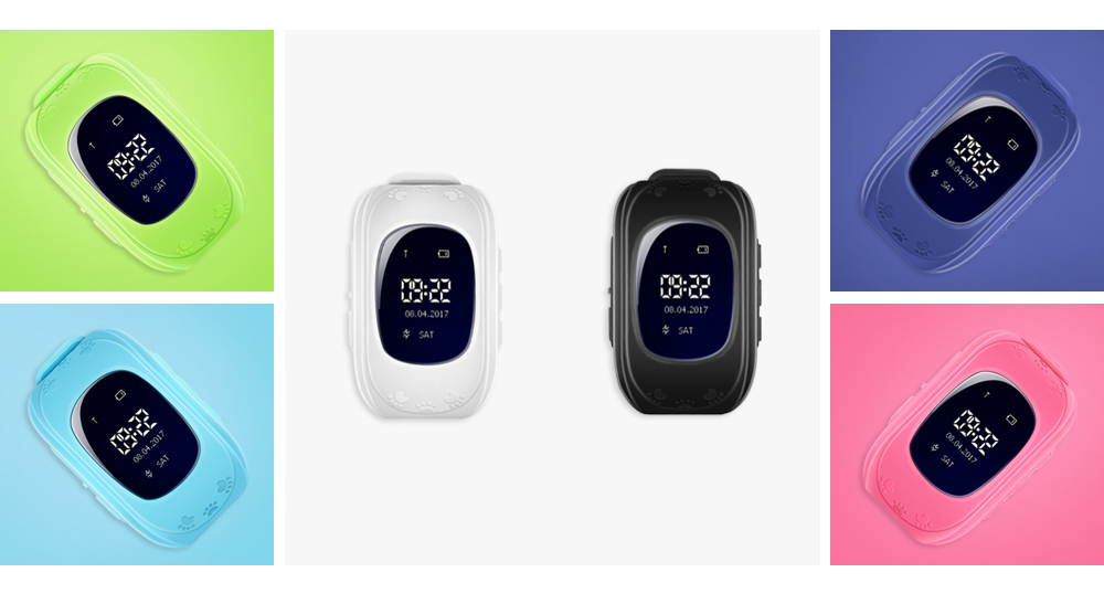 Q50 Children OLED Display GPS SOS Smart Watch Telephone