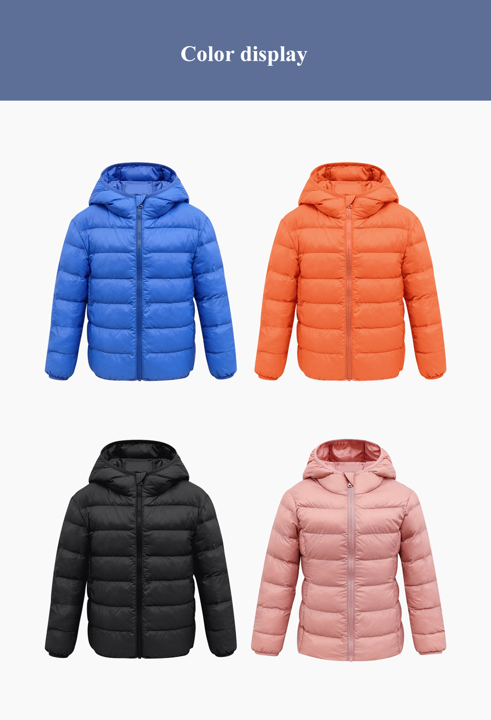 Lightweight Cotton-padded Unisex Coat for Children